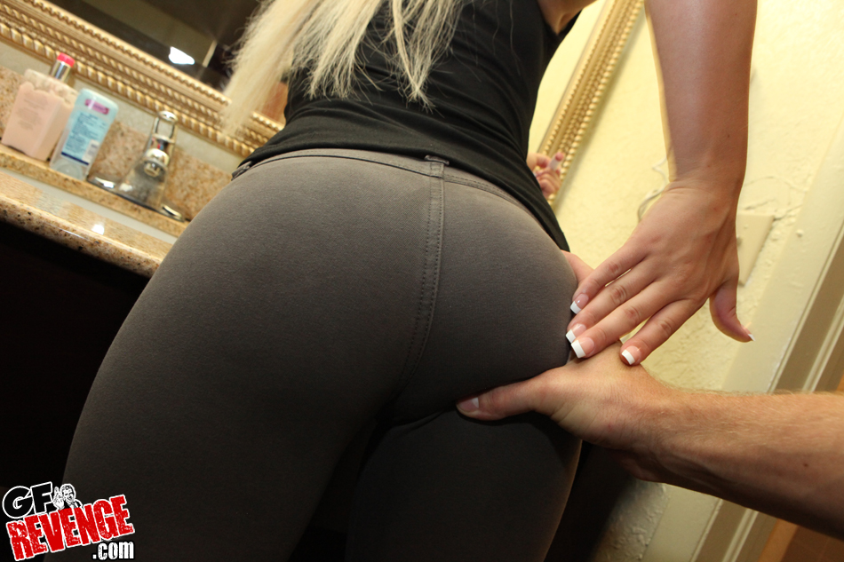 Only yoga in nude girls pants